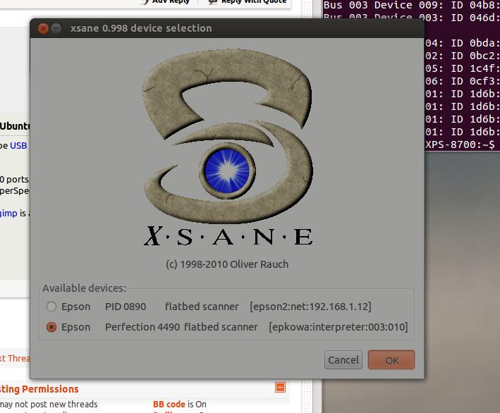 ubuntu] Problems installing USB-Scanner Epson Perfection